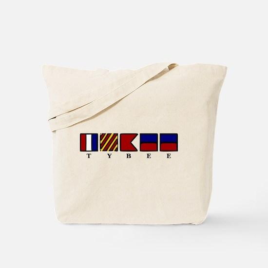 Nautical Tybee Island Tote Bag