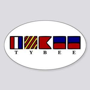 Nautical Tybee Island Sticker (Oval)