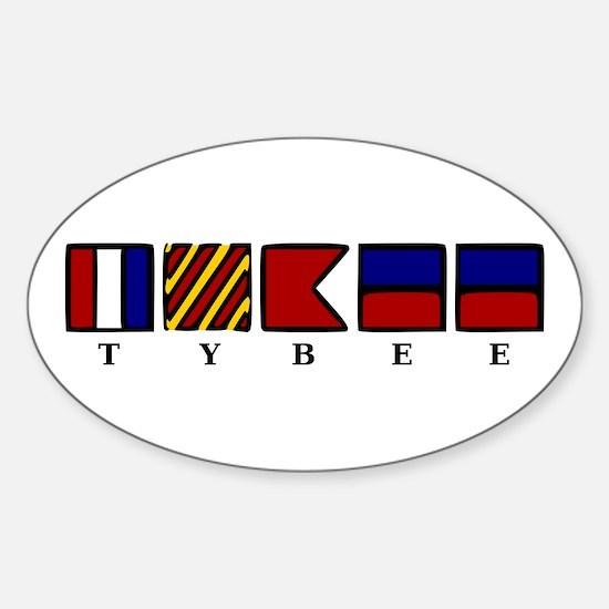 Nautical Tybee Island Sticker (Oval)