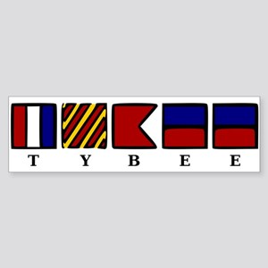 Nautical Tybee Island Sticker (Bumper)