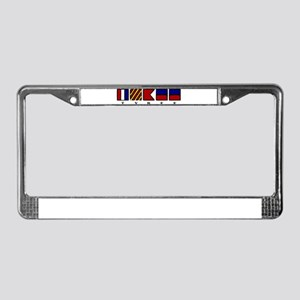 Nautical Tybee Island License Plate Frame