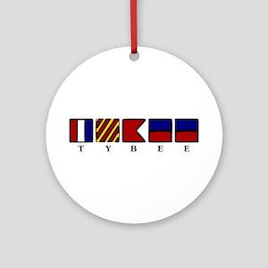 Nautical Tybee Island Ornament (Round)