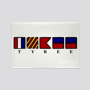 Nautical Tybee Island Rectangle Magnet