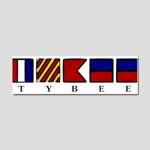Nautical Tybee Island Car Magnet 10 x 3