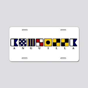 Nautical Anguilla Aluminum License Plate