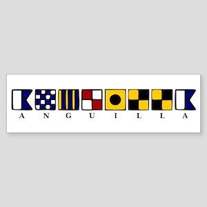 Nautical Anguilla Sticker (Bumper)