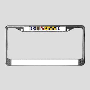 Nautical Anguilla License Plate Frame