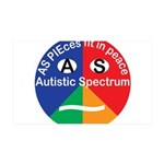 Autism symbol 35x21 Wall Decal