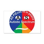 Autism symbol 20x12 Wall Decal