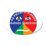 Autism symbol 35x21 Oval Wall Decal