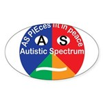 Autism symbol Sticker (Oval 50 pk)