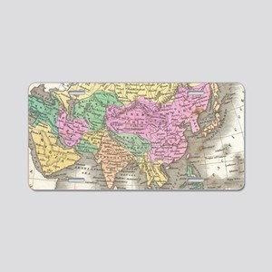 Vintage Map of Asia (1827) Aluminum License Plate