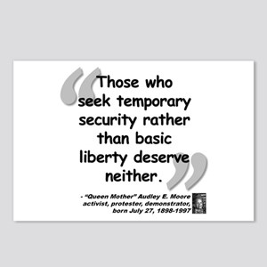 Moore Liberty Quote Postcards (Package of 8)
