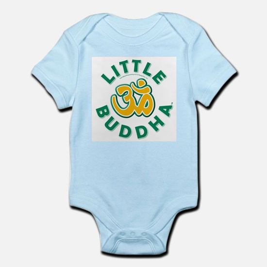 Little Buddha Yoga Symbol Infant Bodysuit Kiwi