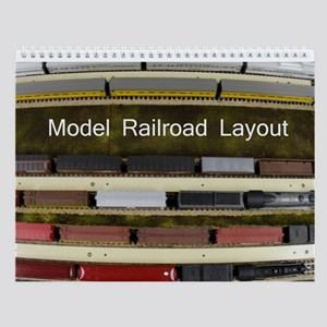 Model Railroad Layout Wall Calendar