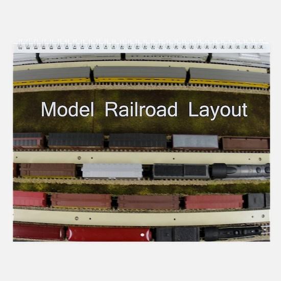 Model Railroad Layout Wall Calendar