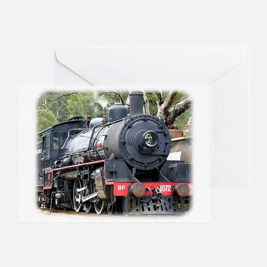 Zig Zag Railway Steam Locomotive 9J54D-01 Greeting
