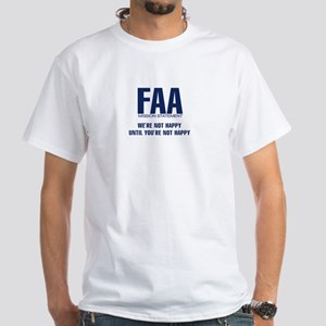 FAA - Mission Statement White T-Shirt