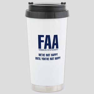FAA - Mission Statement Stainless Steel Travel Mug