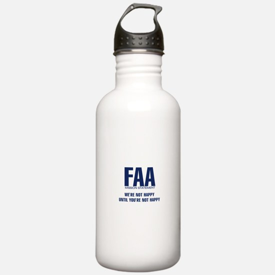 FAA - Mission Statement Water Bottle