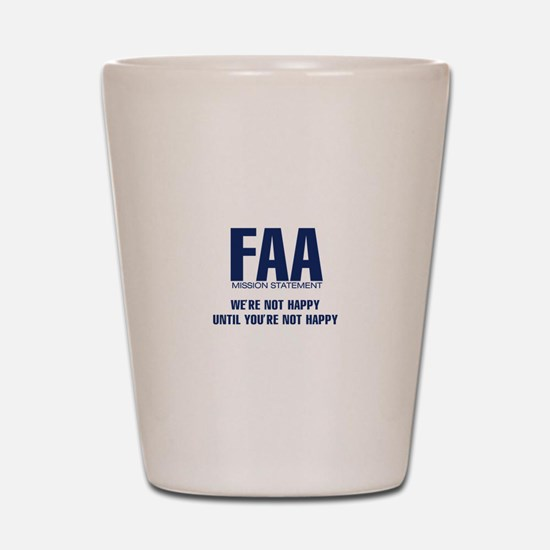 FAA - Mission Statement Shot Glass