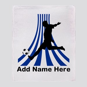 Personalized name soccer gift Throw Blanket