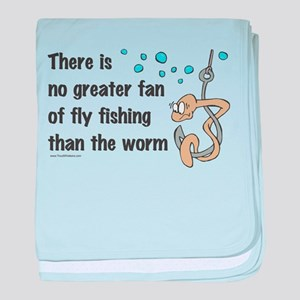 Funny Fly Fishing baby blanket