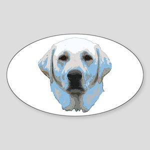 Lab Portrait Sticker (Oval)