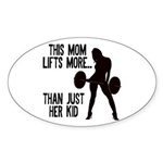 One kid Mom Sticker (Oval)