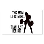 One kid Mom Sticker (Rectangle)