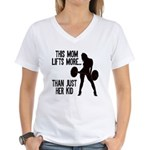 One kid Mom Women's V-Neck T-Shirt