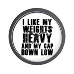 Cap down low Wall Clock