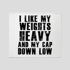 Cap down low Throw Blanket