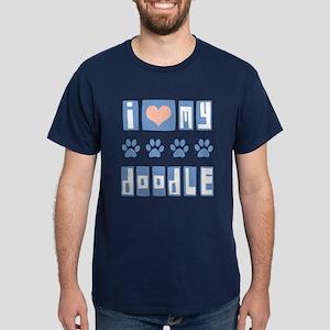 I Love My Doodle Dark T-Shirt