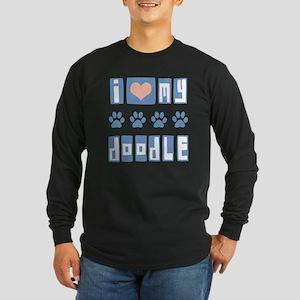 I Love My Doodle Long Sleeve Dark T-Shirt