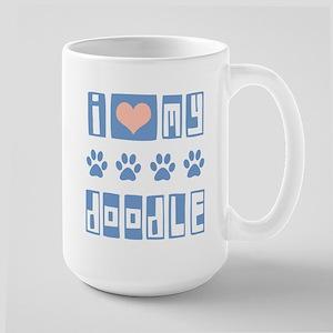 I Love My Doodle Large Mug