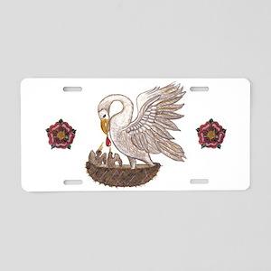 Pelican Rose Aluminum License Plate
