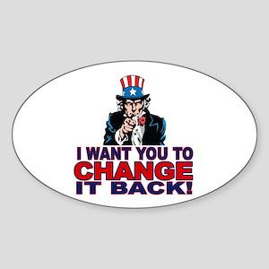 Anti Obama 2012 Sticker (Oval)