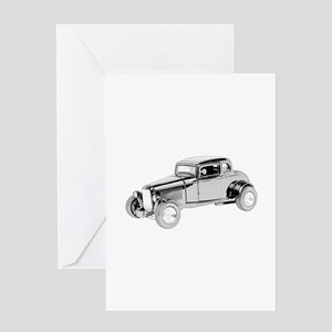 Ford Coupe 1932 -colored Greeting Card