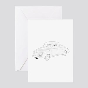 Ford Deluxe 1940 Greeting Card