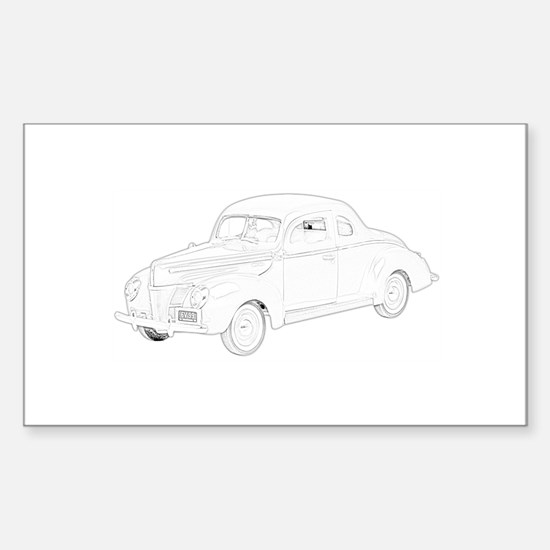 Ford Deluxe 1940 Sticker (Rectangle)