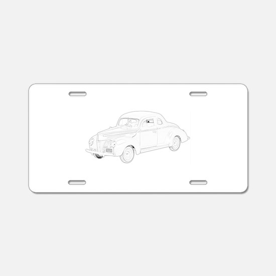 Ford Deluxe 1940 Aluminum License Plate