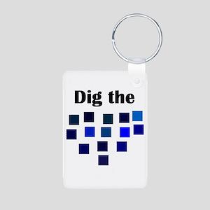 Dig the Blues Aluminum Photo Keychain