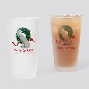 merry cockatoo Drinking Glass
