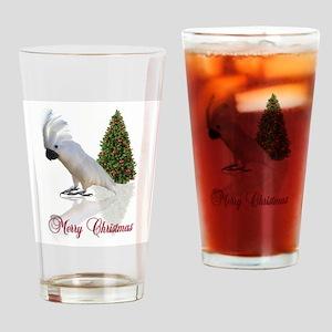 cockatoo christmas Drinking Glass