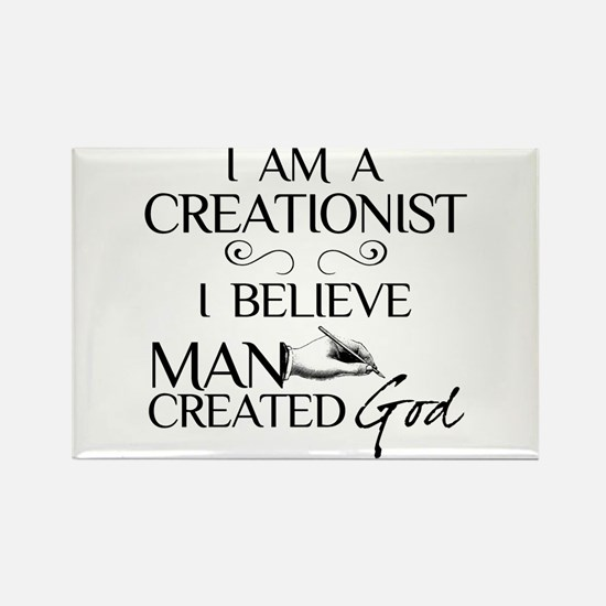 I Am A Creationist Rectangle Magnet