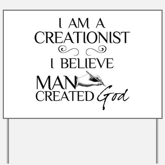I Am A Creationist Yard Sign