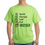 Obsessed Triathlon Green T-Shirt