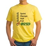 Obsessed Triathlon Yellow T-Shirt
