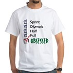 Obsessed Triathlon White T-Shirt